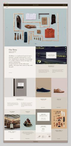 Wolf & Son #modular #ui #website #grid #fashion