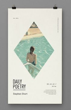Daily Poetry on the Behance Network #ripples #woman #diamond #design #graphic #pool #poetry #daily