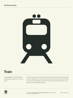 The Human Project Poster (Train) #inspiration #creative #information #collection #design #graphic #poster #typography