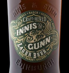 Innis & Gunn Lager #packaging #beer #label #bottle