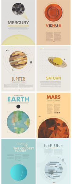 Beyond Earth: A Minimal Poster Series by Stephen Di Donato #planets