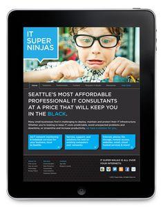 IT Super Ninjas   Web and Branding #tech #web #ui