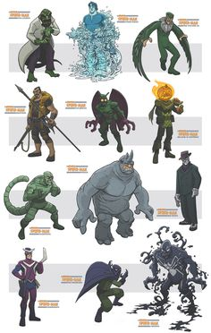 awesome spiderman villains III by jimmymcwicked