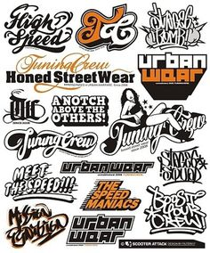 FFFFOUND! | Logo Design for Scooter Attack (Germany) on the Behance Network #urban #graffiti #tag #street #sticker #typography
