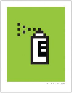SPRAY PAINT | Susan Kare Prints #poster #icons #apple
