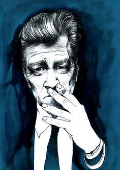 Andreu Zaragoza Illustration - David Lynch