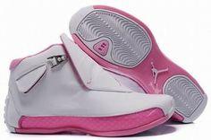 women jordan air sneakers 18 white and pink