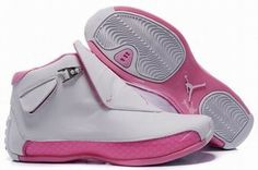 women jordan air sneakers 18 white and pink #shoes