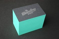 Blush°° Bespoke & custom letterpress printing in the UK» Blog Archive » Edge Painted Business Cards