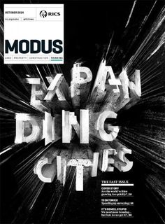 Modus (UK) #cover #type #3d #b&w