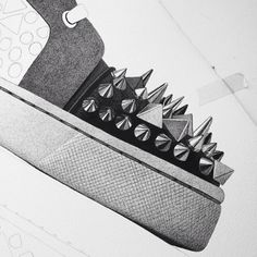 CJ Hendry | PICDIT #black #drawing #art #shoe