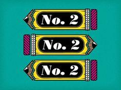 No. 2 Pencils | Flickr - Photo Sharing! #illustration #vector #line #pencil