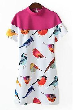 quirky bird dress