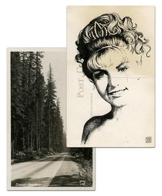twin peaks post cards oldskull laura palmer