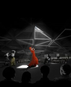 Scrapbook #red #madrid #design #dance #flamenco #light #architecture #keir #dark