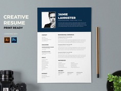 Free Administration Resume Template with Professional Design