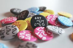 Art Out Loud for LexArts #Buttons
