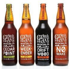 Geneva Lake Brewing Co. Packaging #beer #bottle #label #packaging
