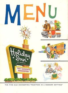 Holiday Inn menu | Flickr - Photo Sharing! #inn #menu #color #illustration #holiday