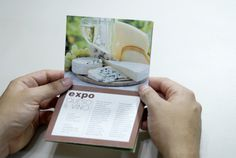 Brochure / Folleto: Queso y vino #design #folded #editorial