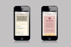 Screenshots of the Clarence & Fredericks website on mobile devices #branding #guide #alcohol #website #bitters