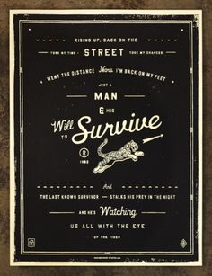 NeighborhoodStudio — Will to Survive #will #jinkins #print #black #curtis #survive #tiger #to