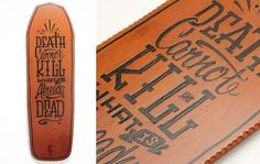 Stack The Decks - Me and Gonzo #lettering #burn #wood #kill #custom #skateboard #death
