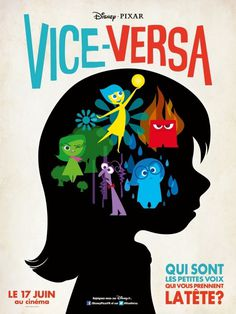 Inside Out Movie Poster #movie #animation #out #disney #cinema #vice #poster #cartoon #inside #versa #pixar