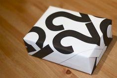 Using Massimo Vignelli's Stendig Calendar as wrapping paper | Doobybrain.com #calendar #stendig #vignelli