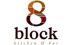 8 Block kitchen & Bar Logo #logo #branding #geometric #restaurant