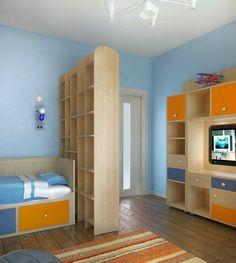 Modern design in child bedroom