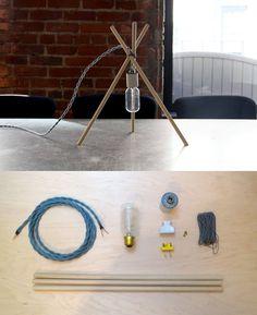 Tres lamp #DIY #lamp