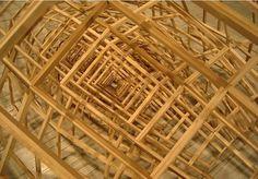 巢#sculpture #butler #wood #wireframe #art #ben