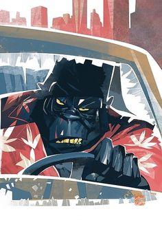 otto_von_todd #driver #illustration #bonobo #gorilla