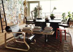 Studioilse arranges Vitra and Artek furniture into fictitious home