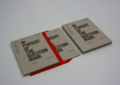 In Pursuit of the Question Mark on Behance #publication #typography