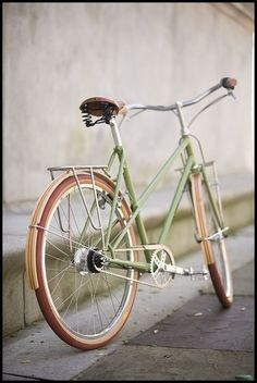 : ) #bicycle #brown #vintage #bike #green