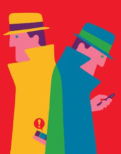 Editorial illustration for El Pais Semanal about smart watches (channelling Dick Tracy). #adrian #johnson