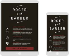 Roger The Barber by Cast Iron Design #site #website
