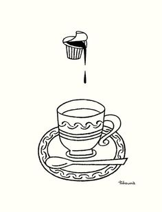 Untitled | Flickr - Photo Sharing! #illustration #line #takeuma #cup
