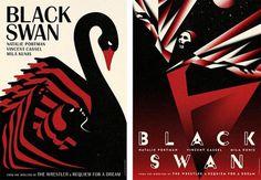 Fonts In Use – Black Swan Movie Posters #swan #black #brittanic #illustration #bat #poster #acier #typography