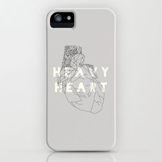 Heavy Heart - iPhone / iPod cover Você pode comprar aqui / you can buy here #heart #heavy #typography
