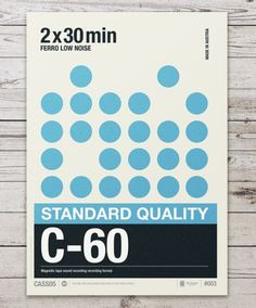 Audio Cassette Posters by Neil Stevens.