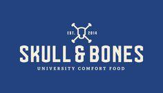 Skull & Bones, University Comfort Food #branding #design #identity #logo #typography