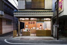okomeya rice store by schemata enlivens tokyo shopping street #shop #rice