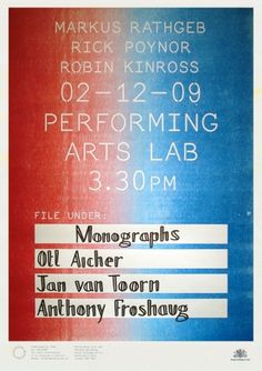 Performing Arts Lab #design #graphic #poster #typography