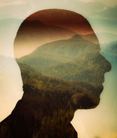 Circa 1983 The Photo Roll of Owen Perry #double exposure #portrait #nature #circa 1983