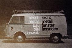 Autographik – Modernist design on vehicles | Gentle Pure Space #vehicle #van #livery #vintage #modernism