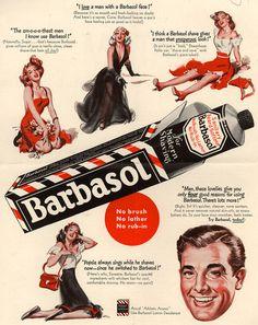 Barbasol Ad #ad #retro #40s