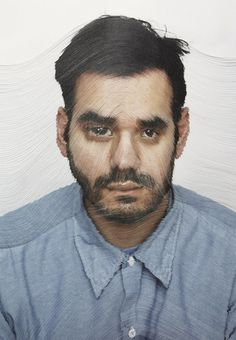 Portraits Cut Into Layers Illustrate Time Passing #portrait #layers